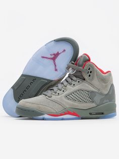 new product e78f2 abf71 Air Jordan 5 Retro BG White University Red Black