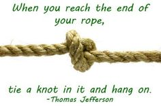 When You Reach the End...