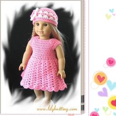 American Doll Crochet Patterns Free | Free Crochet Patterns to Make Doll Clothes for American Girl Dolls