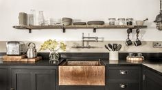 Industrial kitchen ideas kitchen industrial with copper sink industrial kitchen shaker cabinets