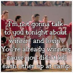 leadership quotes remember the titans Football Movies, Football Quotes, Movie Shots, I Movie, Remember The Titans Quotes, Movies Showing, Movies And Tv Shows, Favorite Movie Quotes, Movie Lines