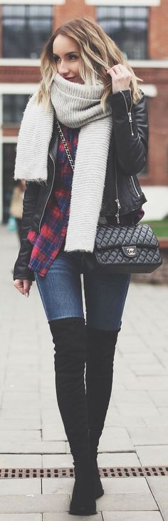 Grunge Touch Winter Outfit