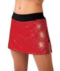 Sequin/spandex Slim Skirt