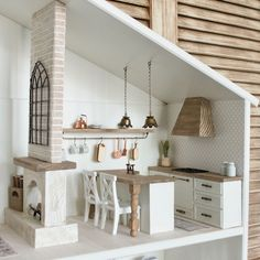 Shop for designer dollhouses, travel dollhouses, and mini furniture & decor in trendy styles. At Mini Adventures Co., choose the mini adventure that's best for you. Ikea Dollhouse, Dollhouse Design, Dollhouse Dolls, Wooden Dollhouse, Dollhouse Ideas, Mini Doll House, Barbie Doll House, Doll House Modern, Doll House Kitchen