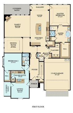 Freedom floorplan from Lennar Dallas: This revolutionary Next Gen® floor plan c… New House Plans, Dream House Plans, Small House Plans, House Floor Plans, Next Gen Homes, Mother In Law Apartment, Bungalow, In Law House, In Law Suite