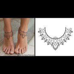 Chic Tattoo Design Foot Ankle Elenapietropoli Blacklily Design
