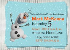 olaf invitations | Add it to your favorites to revisit it later.