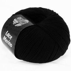 LACE Merino uni 08-black | EAN: 4033493109956