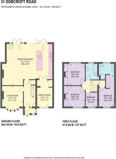 4 bedroom semi-detached house for sale in Dobcroft Road, Millhouses, Sheffield - Rightmove. Kitchen Extension Floor Plan, 1930s House Extension, House Extension Plans, House Extension Design, House Design, Extension Ideas, Side Extension, Layouts Casa, House Layouts