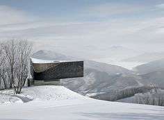 META-project's ski slope observatory frames vistas of a picturesque chinese landscape
