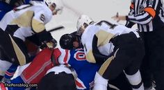 GIF: It Appears Shawn Thornton Started A Trend. Watch Henrik Lundqvist Squirt Water Right In Sidney Crosby's Face.