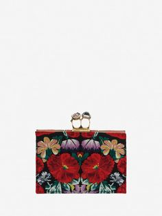 ALEXANDER MCQUEEN Small Jeweled Double-Ring Clutch DOUBLE RING FLAT POUCH  Woman f b11e8677306