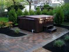 Considering installing a hot tub on your deck or patio get design ideas and inspiration from . enchanting hot tub privacy ideas in small backyard Backyard Garden Design, Diy Garden, Patio Design, Floor Design, Backyard Designs, Garden Ideas, Garden Tub, Garden Oasis, Garden Boxes