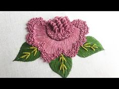 Brazilian Embroidery Stitches, Basic Embroidery Stitches, Hand Embroidery Videos, Embroidery Motifs, Creative Embroidery, Hand Embroidery Designs, Ribbon Embroidery, Hand Embroidery Patterns Flowers, Embroidery Stitches Tutorial