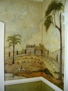 colonial wall stenciling and murals - Google Search