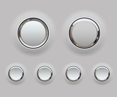 Plastic and chrome button ui inspirations