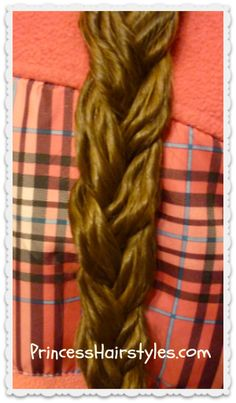 "braid using ""noodle curls"""