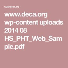 www.deca.org wp-content uploads 2014 08 HS_PHT_Web_Sample.pdf