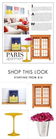 """""""Chanel Fan"""" by patricia-dimmick ❤ liked on Polyvore featuring interior, interiors, interior design, home, home decor, interior decorating, Stanley Furniture and parisapartment"""