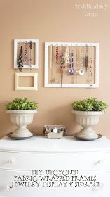 Todd & Lindsey: DIY Upcycled Fabric Wrapped Frames