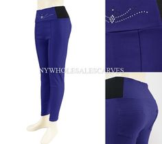 Solid Color Jeggings CY-215-2 Blue