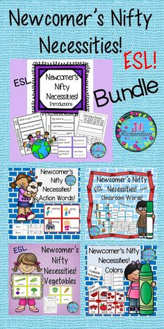 A Bundle for Teaching ESL in your Classroom! This bundle includes five products to help make your new ELL's… Esl Lesson Plans, Elementary Teacher, Elementary Schools, Upper Elementary, Action Words, Thing 1, English Language Learners, New Students, Classroom Activities