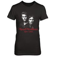 """Ian Somerhalder & Paul Wesley's Official Tee """"We're so excited to release our first ever joint official shirt, featuring an incredible design by a fan, Kathryn Kij. A portion of proceeds will be donated to charity."""" – Paul and Ian  More styles available in the drop-down!  **WORLDWIDE SHIPPING**"""