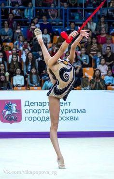 Dina AVERINA (Russia) ~ Ribbon @ Grand Prix Moscow 2017 Photographer Vk.com/Vika Popova.