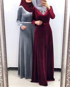 50 Best Ideas For Dress Hijab Soiree Fashion Tesettür Şalvar Modelleri 2020 Velvet Bridesmaid Dresses, Maxi Dress Wedding, Islamic Fashion, Muslim Fashion, Maternity Fashion, Maternity Dresses, Maxi Dresses, Maternity Wear, Abaya Fashion