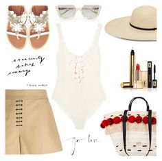 """""""Sun's out: beach day. Again!!"""" by jan31 ❤ liked on Polyvore featuring Max&Co., Yves Saint Laurent, Alexander Wang and Marysia Swim"""