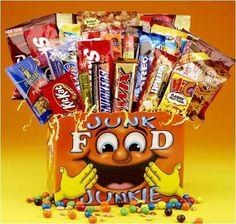 Junk Food Junkie Gift Basket, Yellow