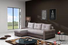 Rohová rozkladacia sedacia súprava Gaila, úložný priestor #sofa #settee #divan #couch