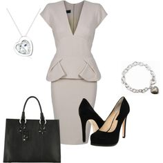 business chic. throw a cami underneath so it more conservative and appropriate for the office :)