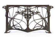 Hector Guimard (1867-1942) :: Art Nouveau cast iron balcony railing, ca. 1907-1912