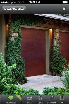 Nice garage door colors. Houzz