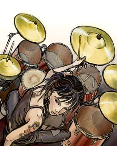 drummer girl by NIW.deviantart.com on @deviantART
