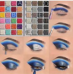 Makeup Eye Looks, Eye Makeup Steps, Eye Makeup Art, Makeup Eyeshadow, Natural Eye Makeup Step By Step, Makeup Tutorial Step By Step, Disney Eye Makeup, Star Makeup, Creative Eye Makeup