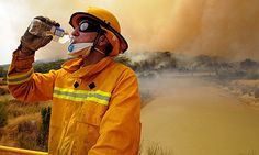 A CFA firefighter has a drink as he takes a break while fighting a bushfire at the Bunyip State Forest Saturday, Feb. Female Firefighter Quotes, Firefighter Love, Volunteer Firefighter, Firefighters, Black Saturday, Crying My Eyes Out, University Of Sydney, The Longest Journey, Australian Bush