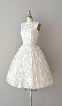lace 50s wedding dress / 1950s dress / Be Near Me. $265.00, via Etsy.