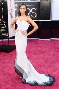 My Fave <3 Zoe Saldana picked a belted Alexis Mabille gown for the Oscars