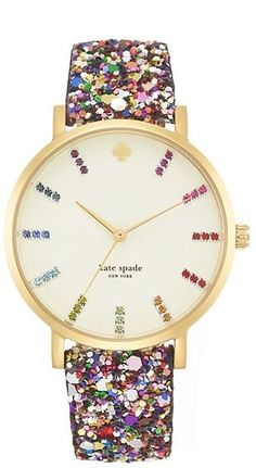 Kate Spade New York - Multi Colored Gold Watch.