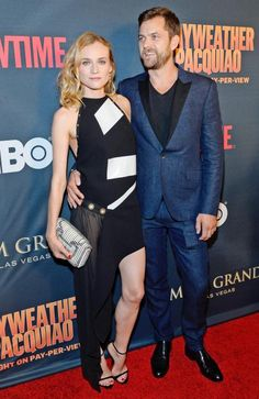 • Diane Kruger and Joshua Jackson at the Mayweather vs. Pacquiao fight •