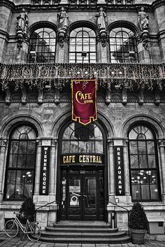 Cafe Central. One of the most famous coffee houses in Vienna opened in 1876. The Schwarzwalderkirschtorte is delicious!