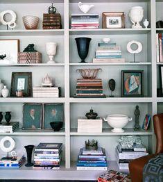 Accessorizing bookcases.