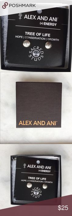 Alex and Ani Tree of Life Energy Stud Earrings Brand new. Alex and Ani Jewelry Earrings