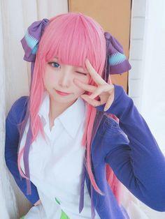 Nino Nakano (Cosplay) (The Quintessential Quintuplets) Kawaii Cosplay, Anime Cosplay, Cute Cosplay, Cosplay Dress, Amazing Cosplay, Best Cosplay, Cosplay Girls, Cosplay Costumes, Kawaii Anime Girl