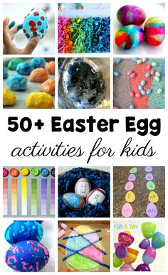 50+ Easter Egg Activities the Kids Will Love #FunADay #Easter #EasterActivities #Preschool #Kindergarten #PreschoolActivities #eastercrafts #EasterEggs