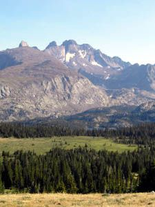 Wyoming's CLOUD PEAK wilderness (elevation 13,167 ft. high), in the  Bighorn Mountain Range, Wyoming