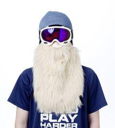 Bad Ass Bearded Snowboard Masks