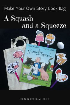 Make A Squash and a Squeeze Story Book Bag - bring this classic book by Julia Donaldson to life! Literacy Bags, Early Literacy, Literacy Activities, Activities For Kids, Gruffalo Activities, Nursery Activities, Preschool Lessons, Autumn Activities, Activity Ideas
